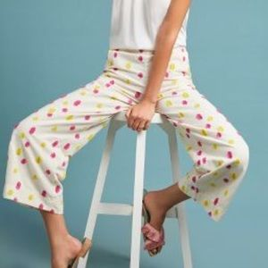 Anthropologie- Cropped clip dot trousers. Sz 6